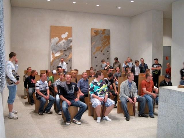 Besuch des Andachtsraum im Bundestag, Berlin.