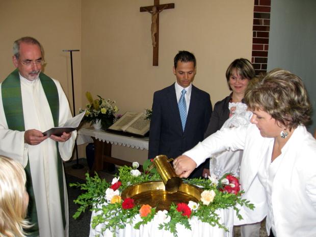 Taufe in Mengersgereuth-Hämmern, Juli 2008