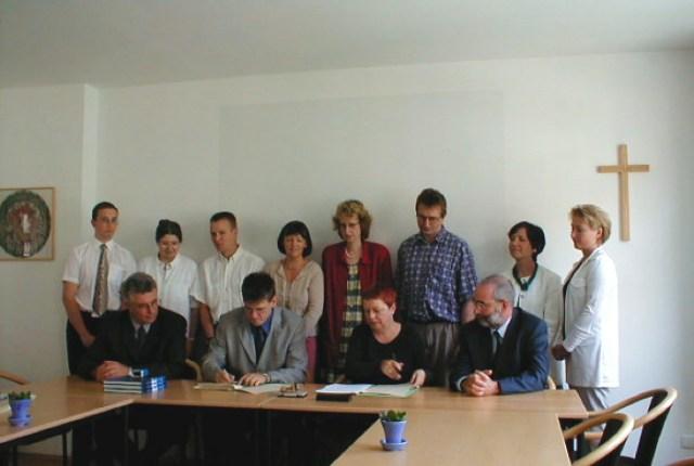 Unterzeichnung der Rahmenvereinbarung mit Fa. Logatec.