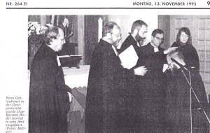 Einführung eines Schulbeauftragten 1995