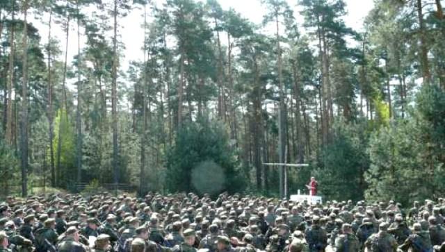 Feldgottesdienst auf dem Truppenübungsplatz Lehnin, April 2007.