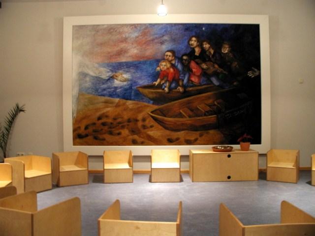 Raum der Stille im Gymnasium.