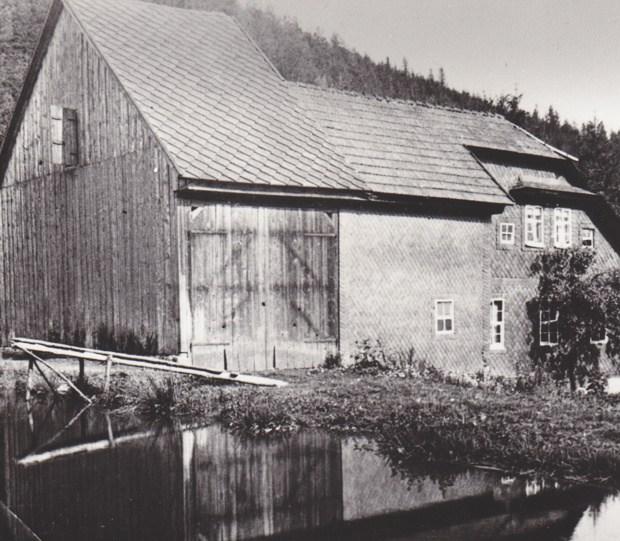 Schwimmbad Crock um 1950.