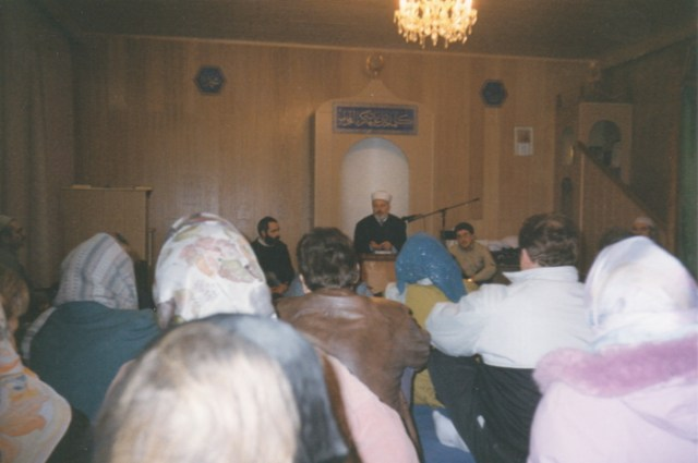 Besuch in der Moschee Coburg 1993.
