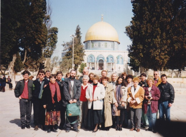 "Die Religionslehrergruppe ""Eisfeld"" auf dem Tempelberg in Israel 1992."