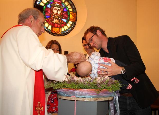 Taufgottesdienst, Kirche Waffenrod, September 2012