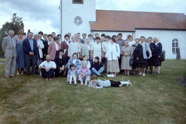 Das Gruppenfoto nach dem Gottesdienst, Kirche Stoby / Hässleholm 1995