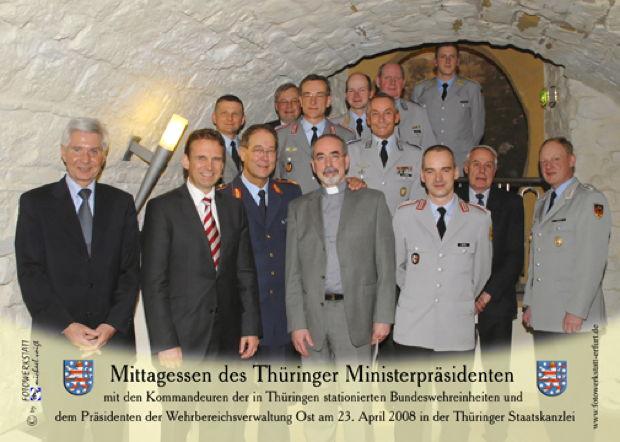 Einladung des Ministerpräsidenten D. Althaus, Freistaat Thüringen.