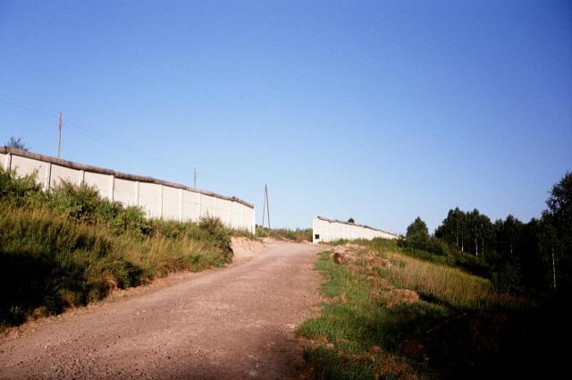 Grenzanlage Görsdorf von BRD-Seite aus gesehen.