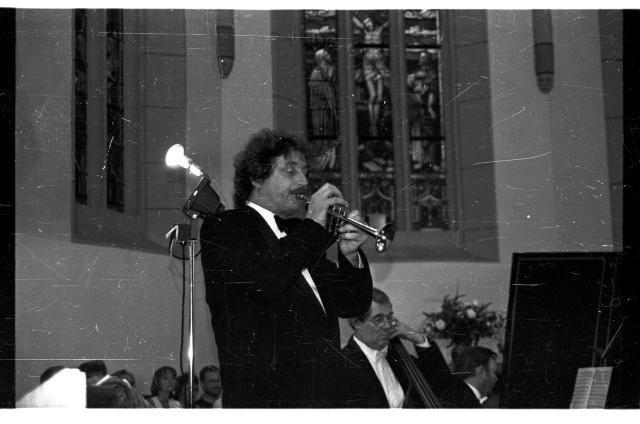 Trompeter Ludwig Güttler in Crocker Kirche