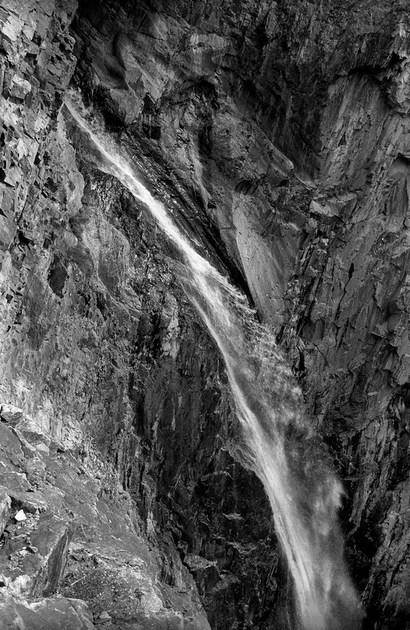 Bear Creek Falls, Million Dollar Highway between Silverton and Ouray, Colorado (2016) Ilford Delta 100 developed in Ilford DDX