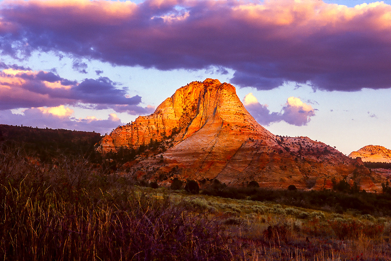 Sunset, Kolob Terrace, Zion National Park, Utah