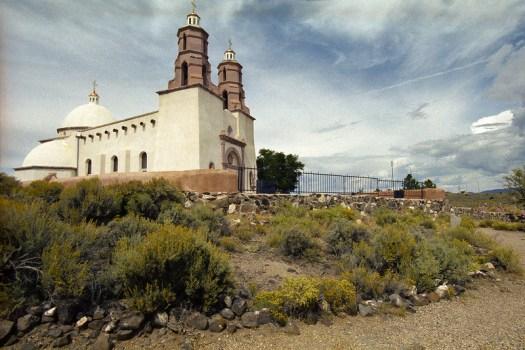Sangre de Christo Catholic Church, established 1992 in San Luis, Colorado (2014)