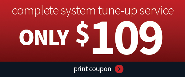 Coupon for complete system tune up from John Betlem Heating and Cooling, Inc.