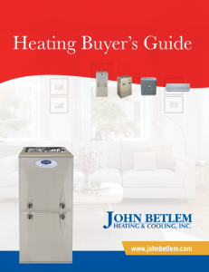 Heating equipment on promotional background