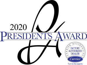 2020 presidents award for carrier factory authorized dealer