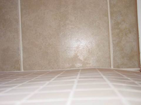 Accessible Shower  Tiled Handicap Shower  ADA Wheelchair Accessible     Side View Of The Hump