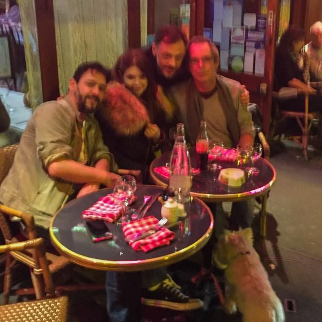 La veillle du départ, avec Francesco, Titof et Angela.