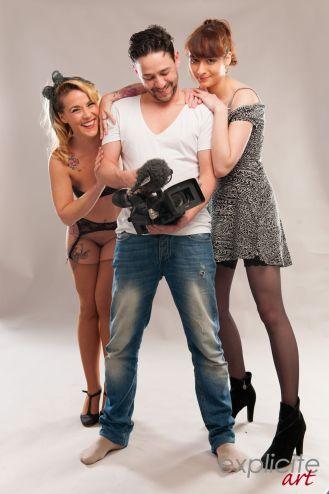 Avec Titof et la maquilleuse Sofia