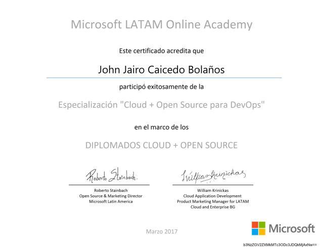 Diplomado «Cloud + Open Source para DevOps»