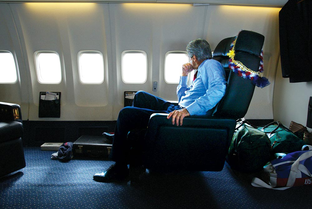 John Kerry's final flight of the 2004 presidential campaign.