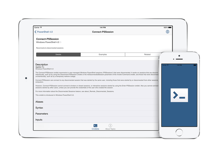 PS Reference App – PowerShell Cmdlet and About Topic reference app for iOS