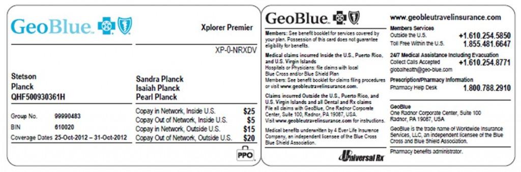 geoblue id card