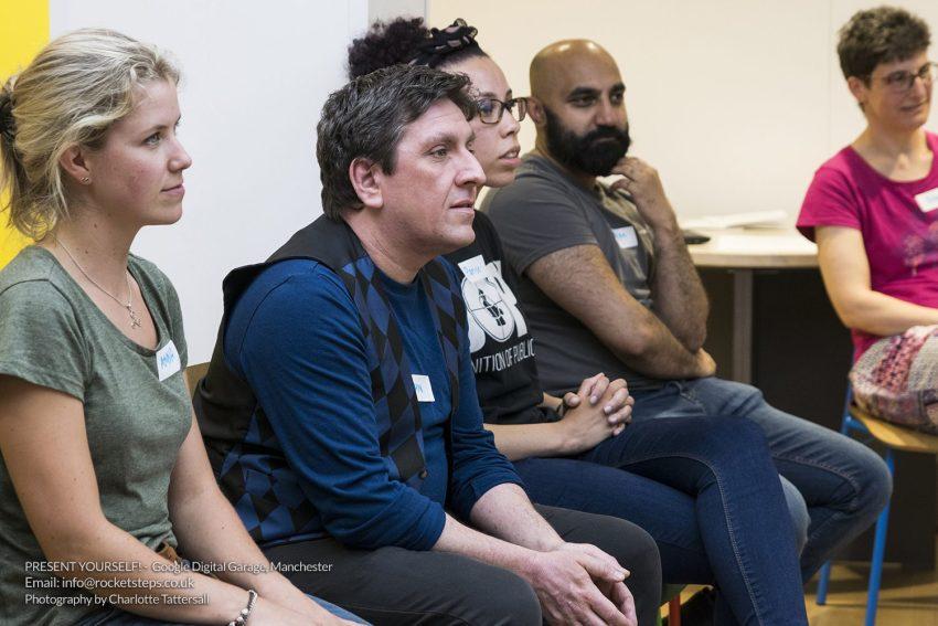 Presentation skills workshop with John Cooper at Google Digital Garage Manchester.