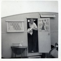 Right honourable aunt Vi Cooper summer caravan holidays