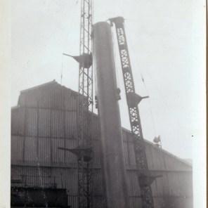 British steel works Scunthorpe granddad sam cooper over seeing engineering