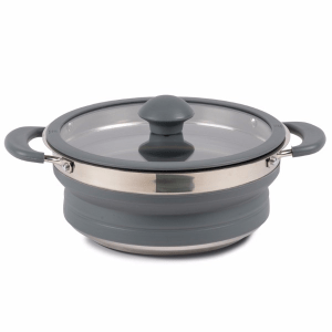 Kampa Dometic Collapsible Saucepan 1.5L Grey – Collapsible Kitchenware