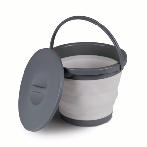 Kampa Dometic 5L Collapsible Bucket Grey – Collapsible Kitchenware – 9120001394