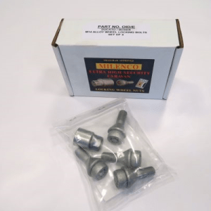 Milenco Caravan/Motorhome Locking Wheel Nuts Motorhome 15″ (Pack of 4)