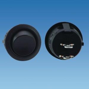 PowerPart 320020 – Black Circular Momentary Rocker Switch