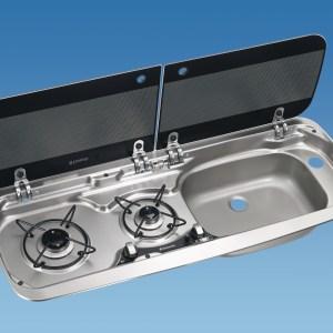 PLS SV1021 – MO9222 Smev Combi Righthand Sink 2 Lids