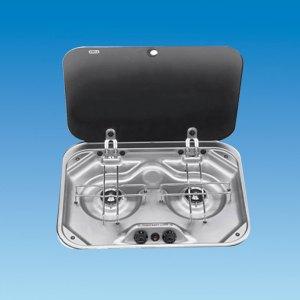PLS SV3020 – PI8022 Smev 2 Burner Hob with Lid & Seal
