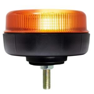 Maypole Beacon – Amber LED Low Profile 12/24V Single Bolt Fixing R10/IP66 – MP4072
