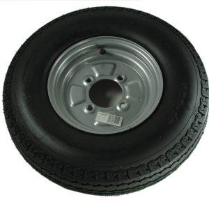 Maypole Wheel & Tyre 500×10″ 4Ply 4Stud 115mm Pcd 355kg Silver – MP42510