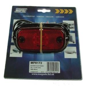 Maypole Lamp – 12/24V Red LED Rear Marker Dp – MP8173