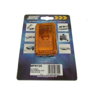 Maypole Lamp – 12V Amber Side Marker & Reflector Dp – MP8725