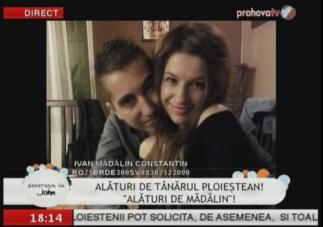 Adreea Dicu alături de Mădălin