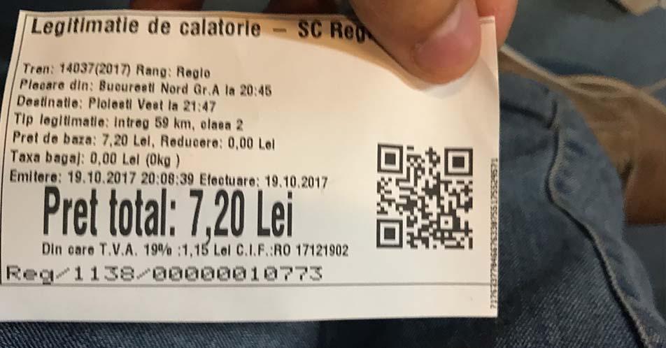 bilet regiotrans, tren