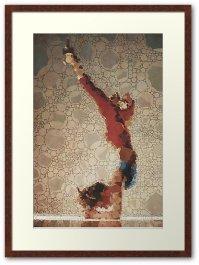 Yoga art 3 framed