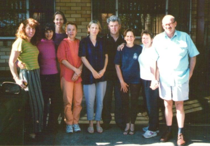 John Dalton with Craniosacral Therapy students. Brisbane 2000