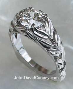 Open Leaf design in Platinum