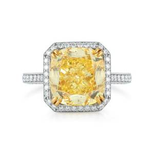 Yellow Diamond with white diamond accents