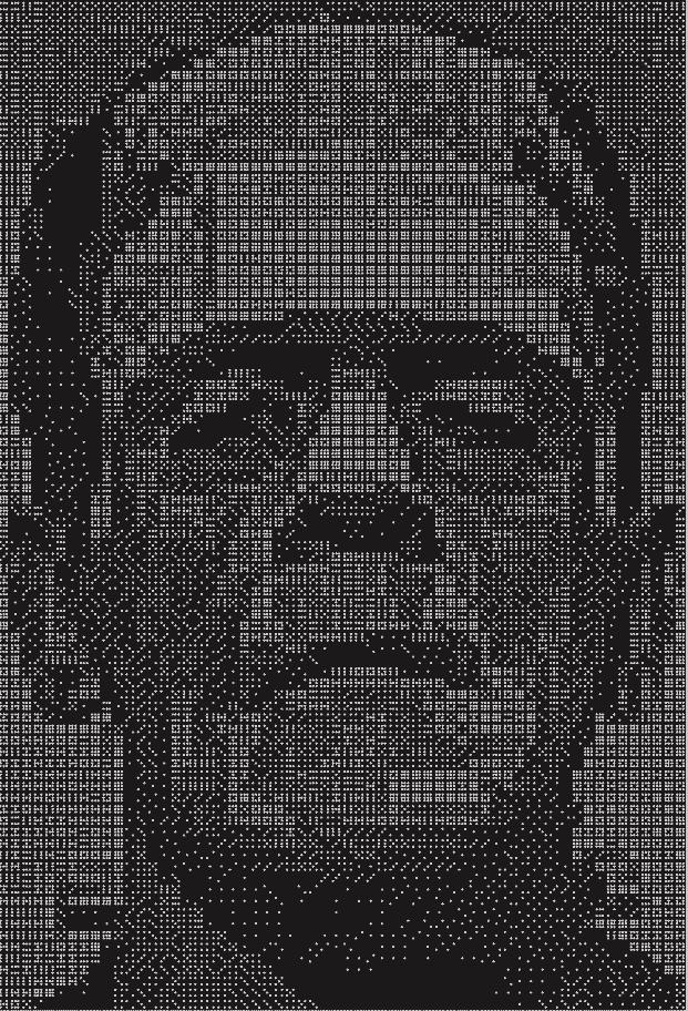 Изображение монстра Франкенштейна из 48 комплектов двойных девяти домино