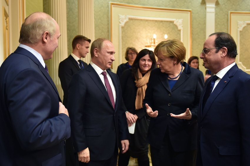 BELARUS-UKRAINE-RUSSIA-CRISIS-TALKS-GERMANY-FRANCE