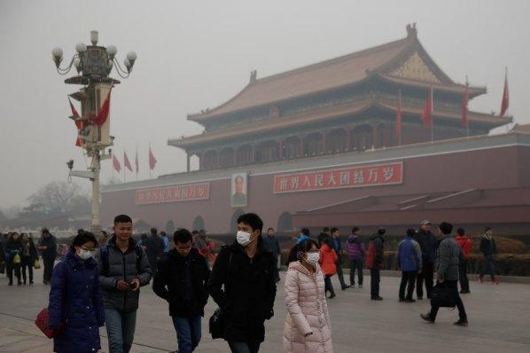 Beijing Enveloped In Heavy Smog