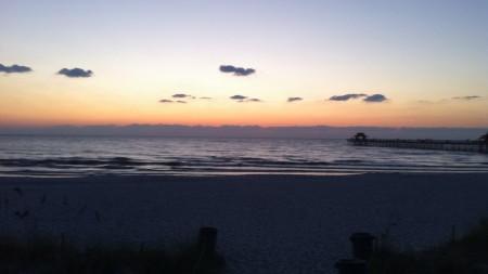 Naples Pier just after sunset